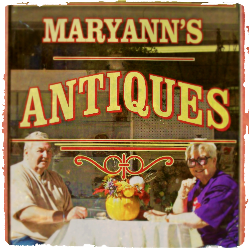 MaryAnn's Antiques front window